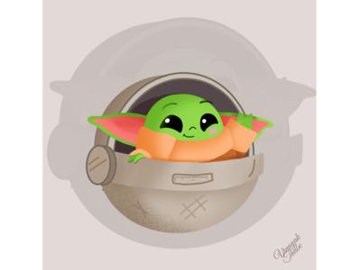 Baby Yoda on the way