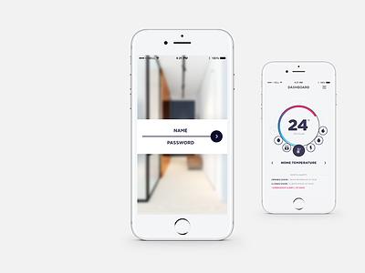 HouseKpr App - Login screen concept iphone app design app concept app design app design mockup product design product smart home app smart home ux design ui ux ui design uidesign uid