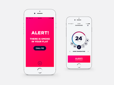 HouseKpr App - Alert screen concept app ux design ux uid ui ui design smart home smart home app product product design iphone mockup design concept app design app