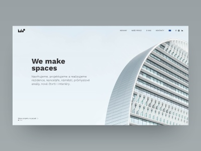 MS Architects homepage design homepage ux clean minimal ui designer ux designer ux  ui ui ui design website concept website web page design design architects sketch app web web  design