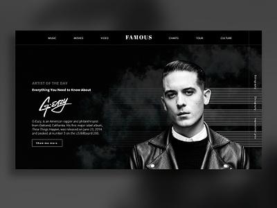 A magazine website homepage design landing page webdesign ui design