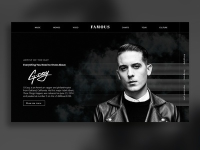 A magazine website