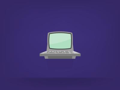 lil' monitor station progress illustration vector monitor computer