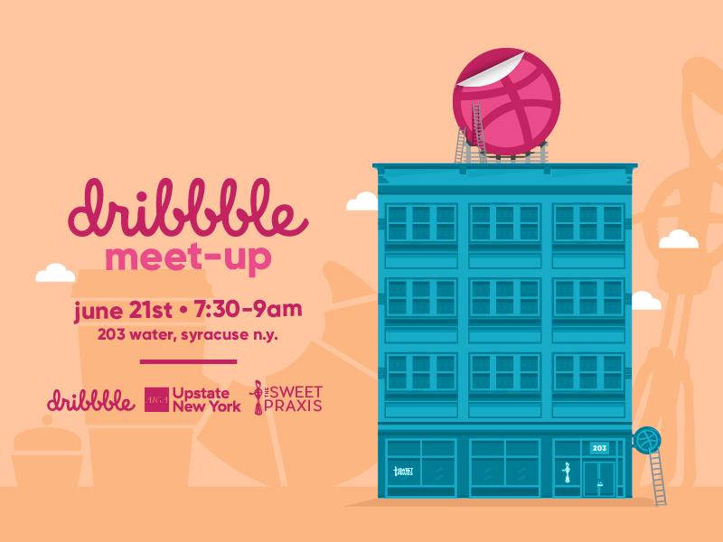 syracuse dribbble x aiga summer meet-up coffee with creatives creatives coffee cityscape meet-up design syracuse