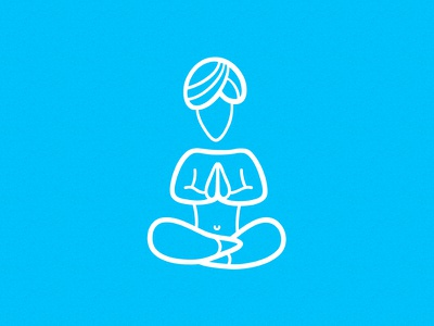 Yoga flat illustration vector yoga glyph line icon relax