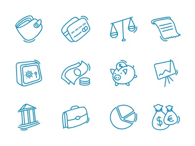 Finance Icons finance icons glyph purse credit card money moneybox bank