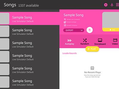 Live Simulator 2 - Song Select UI [Preview] game ui