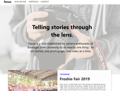 Project Makati - Home page web design ui