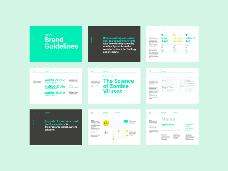 Science on Screen Brand Guidelines by Amy Parker for Fore