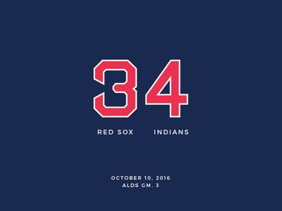 Red Sox Scores: October 10, 2016