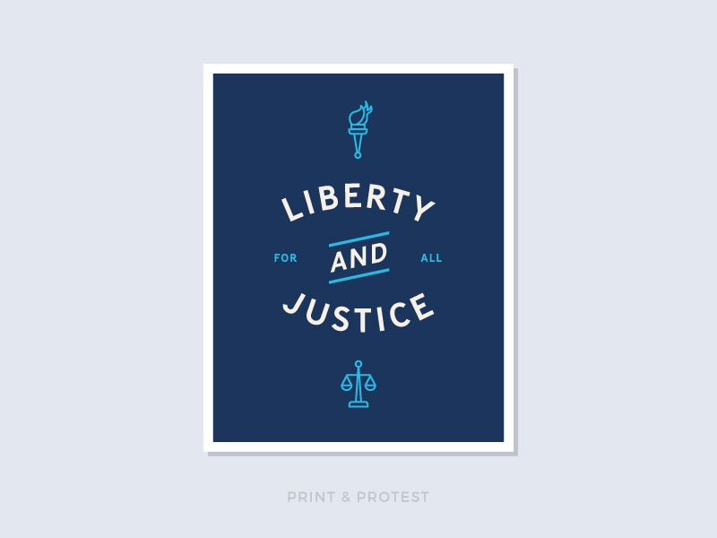 Print & Protest No. 28 icon illustration resist print politics sign poster protest