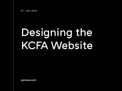 Designing The KCFA Website behind the scenes process website article blog