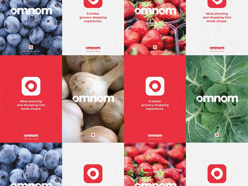 Omnom Posters posters print website app branding logo