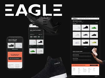 Shoes Ecommerce Website brand design shoes desktop mobile design visual design ecommerce ux ui