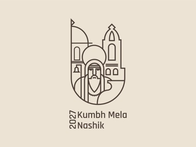 Kumbh Mela - 2027 (Nashik) indian india minimal illustration dribbble branding logo vector illustrator design