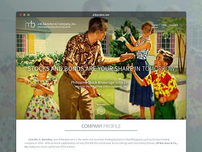 Jmbarcelon.com - family business site WIP family business website 1950s stocks philippines brokerage business webdesign