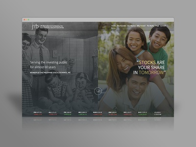 Jmbarcelon.com - Home Page stocks brokerage website webdesign index home page family business 1950s business