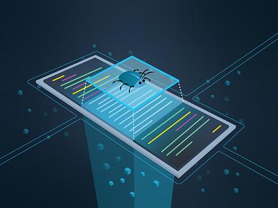 Bug Bounty isometric art isometric illustration bountylist bounty hunter cybersecurity isometric code illustrator bug bounty bug illustration