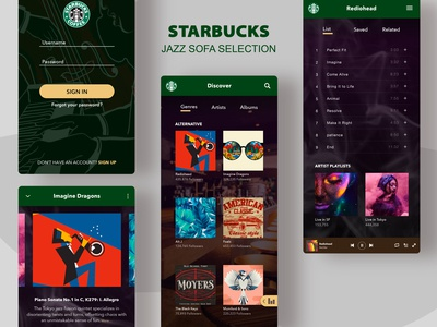 Starbucks Jazz app