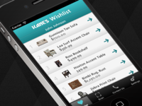 Wishlist Scanner App Concept for a Retail Furniture Store
