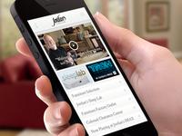 Jordan's Furniture Website Mobile Homepage
