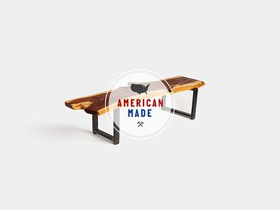 'American Made' Sub-brand study logo identity lock-up type american badge sub-brand design lockup branding