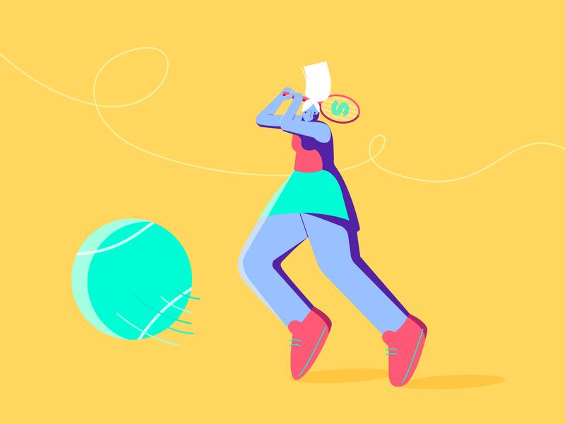 Tennis girl girl flat colorful design shooting game tennis player player character design vector sport illustration illustration tennis