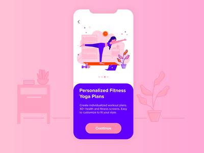 Yoga App laptop app ui yoga yoga pose yoga app girl illustration girl character girl health care health app health character design flat vector illustration