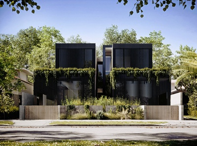 Duplex house in Melbourne - 3d renderings