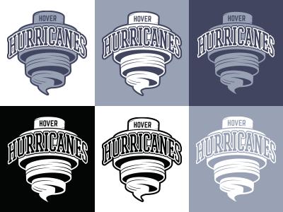 Hover Hurricanes logo visual identity sports team floorball
