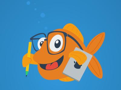 Creative Fish illustration character design fish sea water