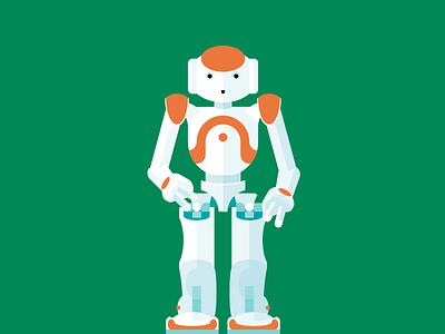 Flat Nao Robot nao horsens public library robot illustration flat affinity designer
