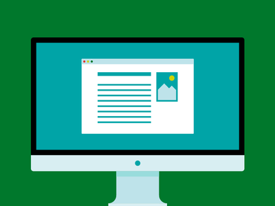Desktop flat affinity designer horsens public library vector monitor desktop computer illustration