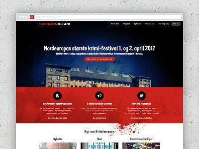 Krimimessen.dk nordic noir web design horsens crime fiction festival horsens krimimessen