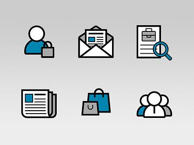Icons for Maskinbladet.dk vector fbg medier illustrator iconset icons
