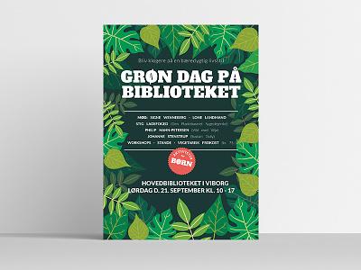 Grøn Dag på Biblioteket nature posters affinity publisher affinity designer illustration