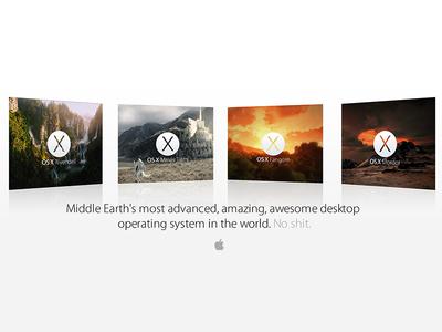 OS X Middle Earth Collection os x mavericks apple os