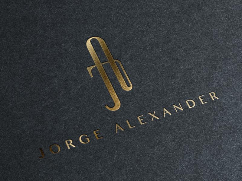 Jorge Alexander Fashion Label Logo logo logodesign fashion label brand corporate gold