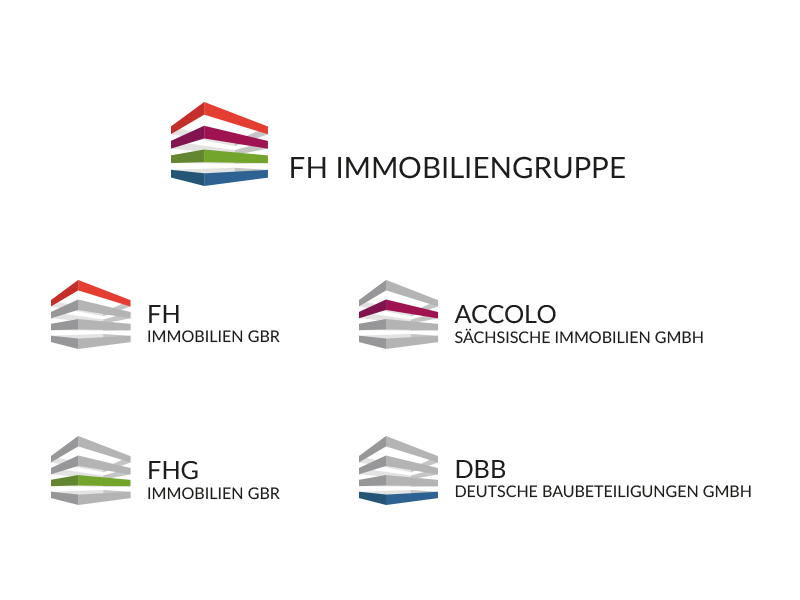 Logo FH Immobiliengruppe logo logodesign coporate brand ci real estate property group