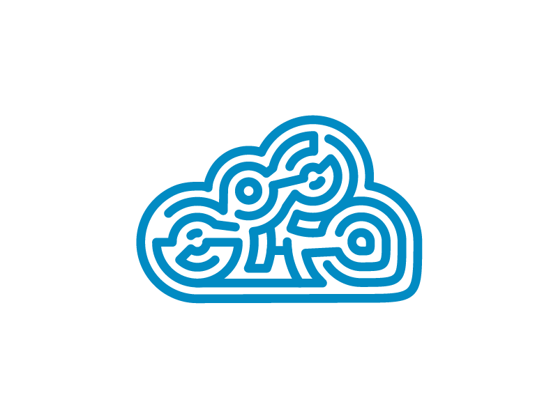 leicht+luftig logo logo maze cloud