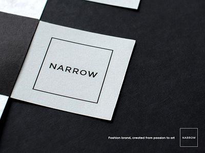 Narrow Branding narrow logo branding white black minimalistic stachecka marta