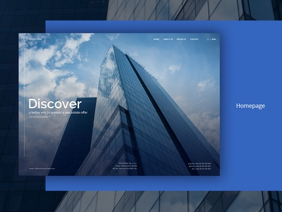Structview Homepage building stachecka blue minimalistic developers estate architecture