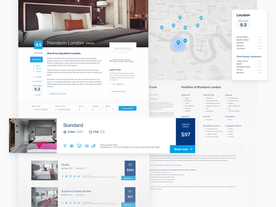 Offer View - Booking redesign holiday rating map netguru compare offer hotel booking