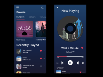 Music App adobexd ui design uiux ui music app music