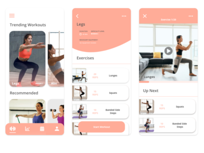 Fitness App uidesign uiux ui motivation fitness app fitnessapp excercise workout fitness