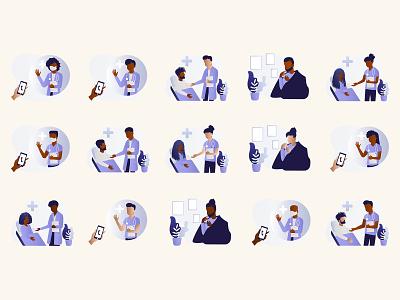 BlackIllustrations.com - Medical - Black Illustrations diversity illustrations  wallpaper illustrations