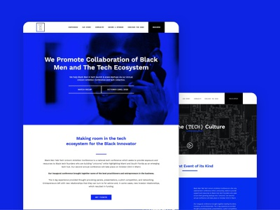 Black Men Talk Tech - Website Design event branding events event app website design web design website