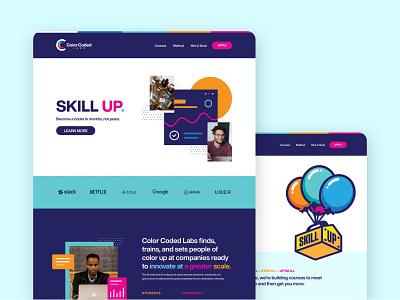 Color Coded Labs - Website Design webflow online courses online course accelerator website design web design website