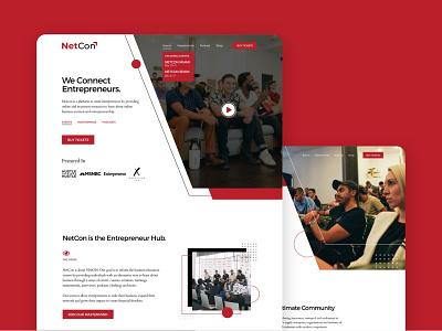 NetCon - Website Design entrepreneur entrepreneurs event webflow website builder website design website