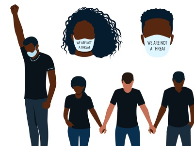 The Movement Pack - BlackIllustrations.com illustrations black lives matter